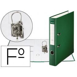 Archivador palanca Esselte plástico forrado folio 50mm. verde