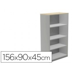 Armari ROCADA 4 prestatges sèrie Store alumini / gris