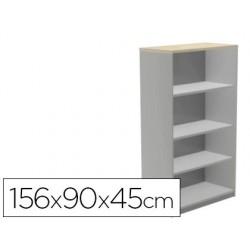 Armari ROCADA 4 prestatges sèrie Store alumini / blanc