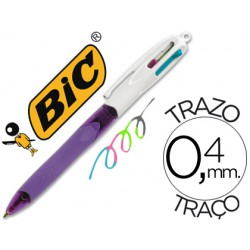 Bolígrafo Bic 4 Coloursgrip Fashion
