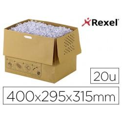 Bolsa de residuos reciclable para destructora Rexel auto+300x