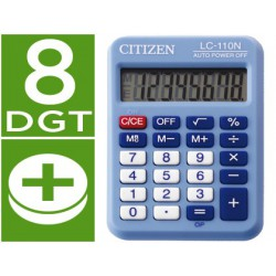 Calculadora Citizen bolsillo LC-110 8 dígitos celeste