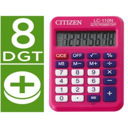 Calculadora Citizen bolsillo LC-110 8 dígitos rosa
