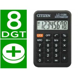 Calculadora Citizen bolsillo LC-110 8 dígitos negra
