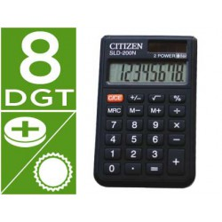 Calculadora Citizen bolsillo SLD-200n 8 dígitos