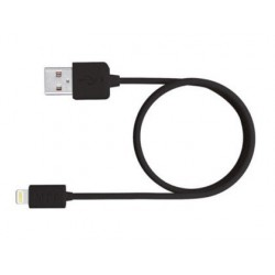 Cable USB 2.0 a Apple lightning 1m.negro