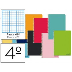 Espiral 4t Smart tapa tova 80h 60gr ratllat n?46 colors assortits