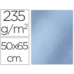 Cartulina 50x65cm. 180g metalizada plata