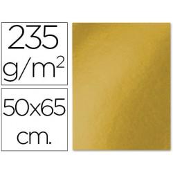 Cartulina 50x65cm. 180g metalizada oro