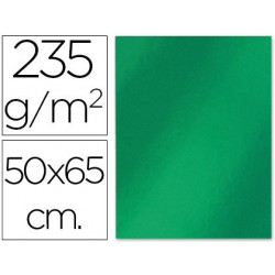 Cartulina 50x65cm. 180g metalizada verde
