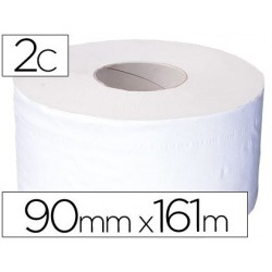 Papel higiénico jumbo 2/c mandril de 62,5mm para dispensador 325