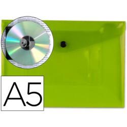 Carpeta sobre pp con broche A5 verde