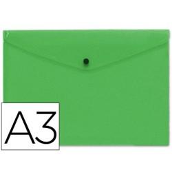 Carpeta sobre pp con broche A3 verde frosty