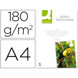 Papel foto glossy A4 50 hojas 180gr