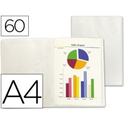 Carpeta 60 fundas A4 Transparente frosty