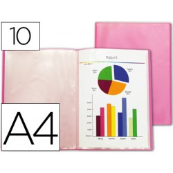 Carpeta 10 fundes A4 Vermell Frosty