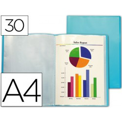 Carpeta 30 fundes A4 Blau Frosty
