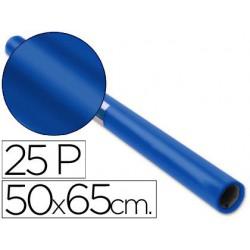 Papel Charol 50x65cm. 25u. azul cobalto