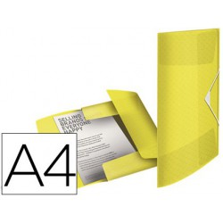Carpeta gomas tres solapas Esselte colour ice pp A4 amarillo