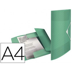 Carpeta gomas tres solapas Esselte colour ice pp A4 verde