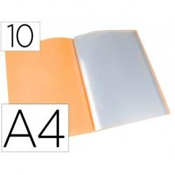 Carpeta 10 fundes A4 taronja fluor opac