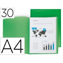 Carpeta 30 fundes A4 verd Frosty