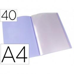 Carpeta 40 fundes A4 lavanda opac