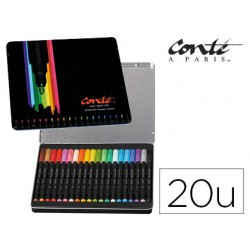 Rotulador Bic conte color collection caja metalica de 20u.