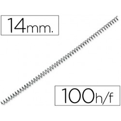 Espiral metàl·lic negre 56 4: 1 14mm 100u.