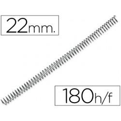 Espiral metàl·lic negre 56 4: 1 22mm 100u.
