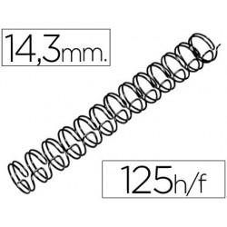 Espiral wiro 3:1 14,3mm nº9 negro 100u