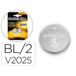 Pila Duracell alcalina boton CR2025 2u.