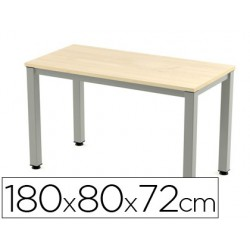 Taula rectangular Executive hagi 180x80cm.