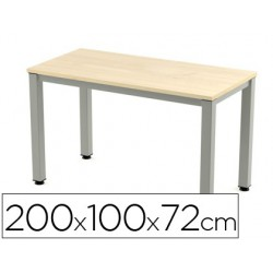 Taula rectangular Executive hagi 200x10cm.
