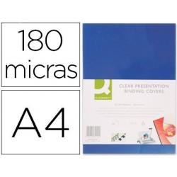 Tapa de encuadernacion PVC A4 opaca azul 180µ. caja de 100u.