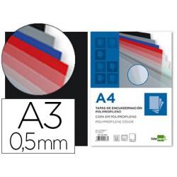 Tapa enquadernació pp A3 0.5mm negre opac paquet de 100u.