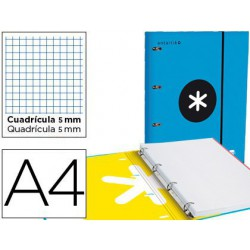 Carpeta amb recanvi Antartik A4 5x5m blau