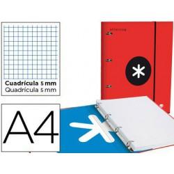 Carpeta con recambio Antartik A4 5x5m rojo con solapa