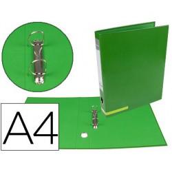 Carpeta 2 anillas 25mm A4 System verde
