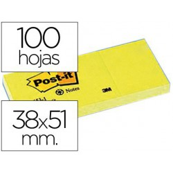 Post-it 38x51mm papel reciclado pack 3u.