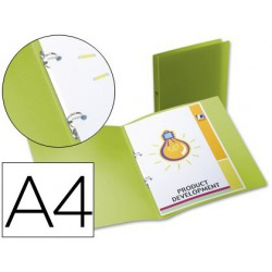 Carpeta 2 anillas pp 17mm. A4 Verde
