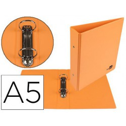 Carpeta 2 anillas pp 55mm A5 naranja
