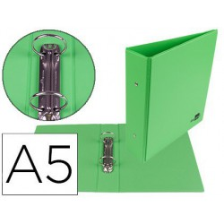 Carpeta 2 anillas pp 55mm A5 verde