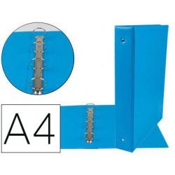 Carpeta 4 anelles pp 55mm A4 blau