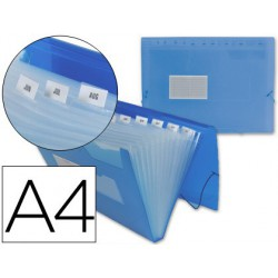 Carpeta classificadora pp A4 blau