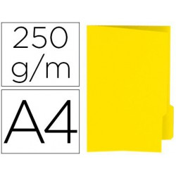 Subcarpetes amb pestanya groc, pestanya dreta A4 50u.