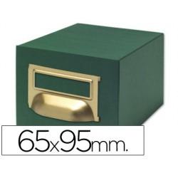 Fichero fichas tela verde 1000 fichas nº1 65x95mm