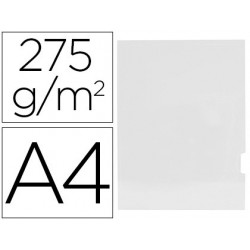 Subcarpeta GIO plastificada 2 solapas A4 blanco 25u.