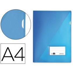 Dossier uñero A4 180µ con tarjetero 10u. Azul