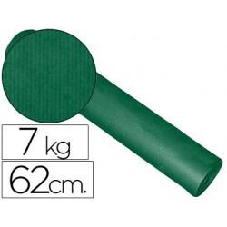 Papel fantasía kraft liso bobina 62cm -7kg verde